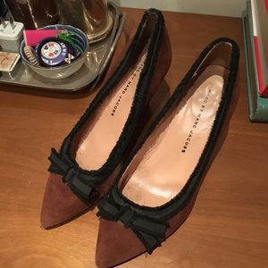 Marc by Marc Jacobs brown suede heels size 37
